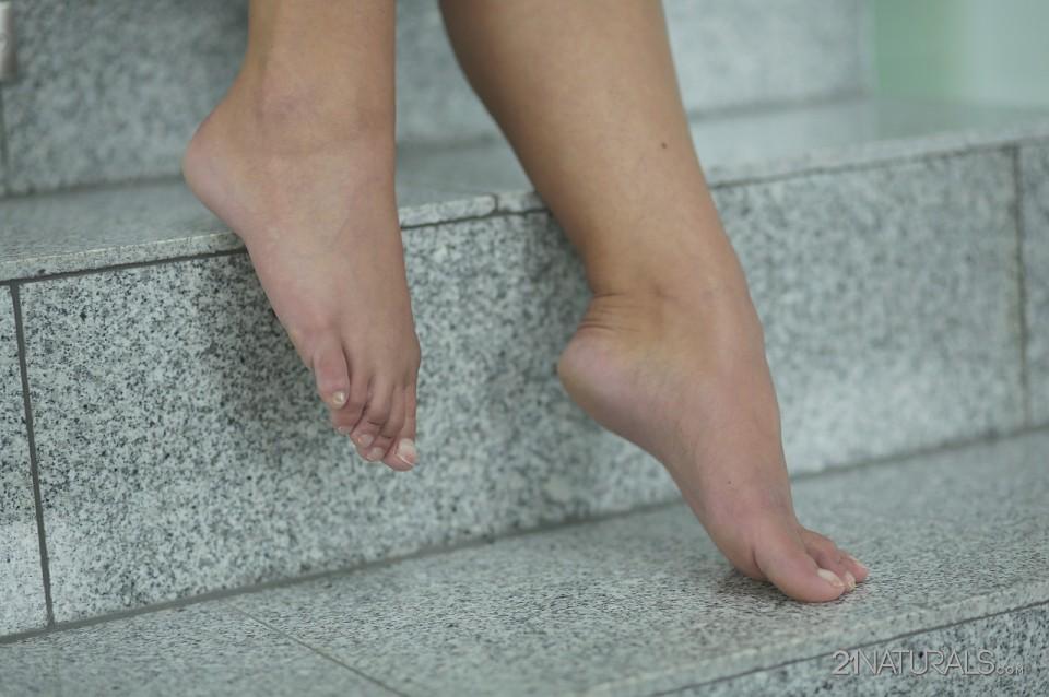 Amirah Adara in Stairway to the foot pleasure 3